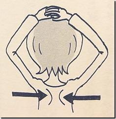 肩部・背中のストレッチ-自分でできるめまいケア4の説明図