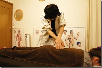 なごみ整体院 背部(腰〜肩・腕関節)調整