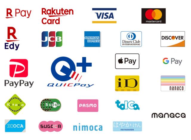取り扱いクレジットカード・電子マネー